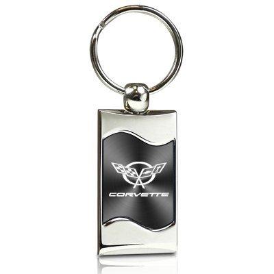 chevrolet-corvette-c5-gray-spun-brushed-metal-key-chain
