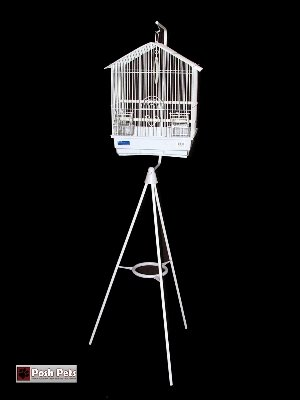 Cheap Posh Pets White Nina Bird Cage And Stand Combination (201C2W)
