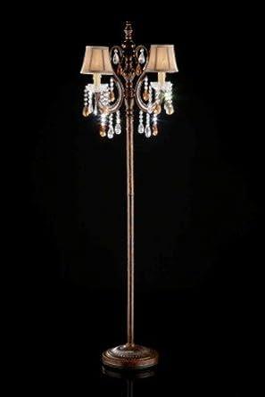shade crystal chain floor lamp chandelier floor lamp. Black Bedroom Furniture Sets. Home Design Ideas