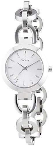 DKNY  NY2133 - Reloj de cuarzo para mujer, con correa de acero inoxidable, color plateado