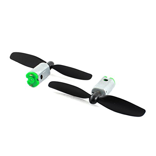 Uxcell a14080500ux0177 DC3.7V 23800RPM RC Quadcopter Micro Motor w 2-blade Propeller, 2Pcs, ,