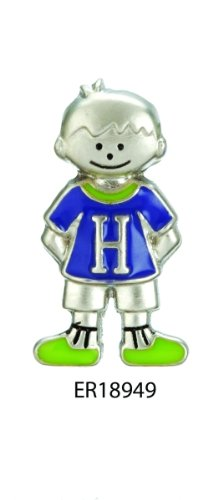 Mini My Kid's Initial Tag - Boy - H by Ganz