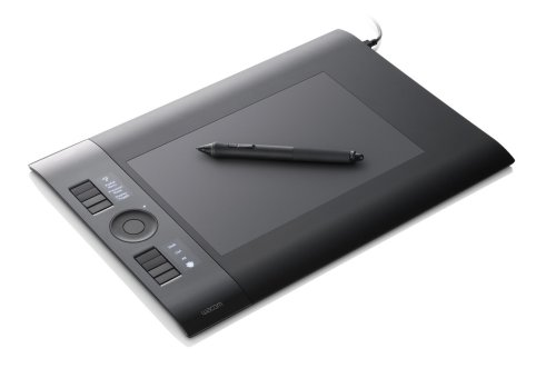 Wacom - Intuos4 Medium - Mouse, digitizer, stylus - 14 x 22.4 cm - electromagnetic - wired - USB - black