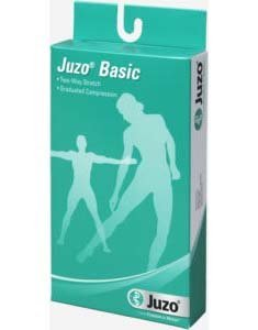 Juzo Basic Thigh High Stocking - Full Foot Beige Silicone, Size 2, Small, Compression 20-30 mmHg, 1