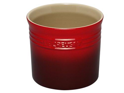 Le Creuset Stoneware Large 2-3/4-Quart Utensil Crock, Red