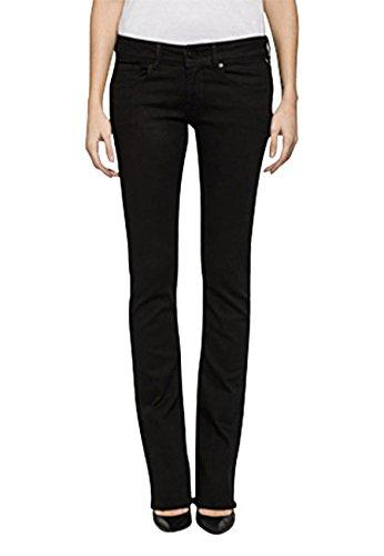 Replay Damen Jeans Rearmy – Bootcut – Schwarz – Black Denim