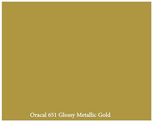 "12"" X 10 Ft Roll Of Glossy Oracal 651 Metallic Gold Repositionable Adhesive-Backed Vinyl For Craft Cutters, Punches And Vinyl Sign Cutters By Vinylxsticker front-889136"