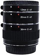 Golitonreg Auto Focus AF Macro Extension Tube Set for Canon 12mm 20mm 36mm 60D 70D 5D2 5D3 7D 6D 650