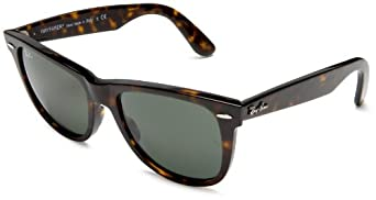 Ray-Ban RB2140 Original Wayfarer Sunglasses 50 mm,Tortoise frame/Crystal Green lens