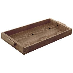 Weatherwood Stained Pine Tray, 15.50 x 10.5
