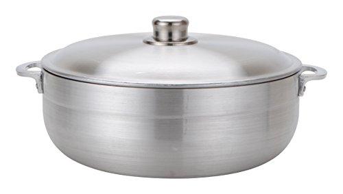 Aramco Alpine Gourmet Aluminum Caldero, 7 quart, Silver