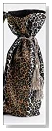 Zebra Print Fabric Wine Bag