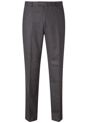 Austin Reed Contemporary Fit Charcoal Trousers SHORT MENS 36