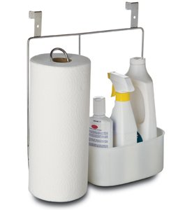 Amco Over-the-Cabinet Paper Towel Holder with Cleaning Caddy