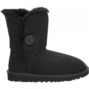 UGG Australia Women's Bailey Button Sheepskin Boots Black Size 8
