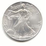 2001 Uncirculated American Eagle Silver Dollar
