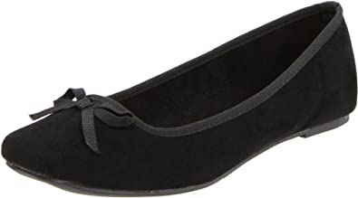 Wanted Shoes Women's Rialto Ballerina Flat,Black,7 M US