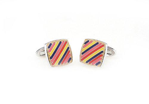 Candy Striper Multi-Color Combo Cufflinks