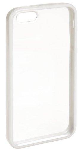 AmazonBasics - Custodia trasparente  con proteggischermo per Apple iPhone 5, profilo bianco