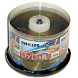 Philips LightScribe DVD+R 16X 4.7GB 50PK Spindle