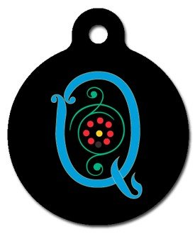 Monogram Letter Q Pet ID Tag for Dogs and Cats