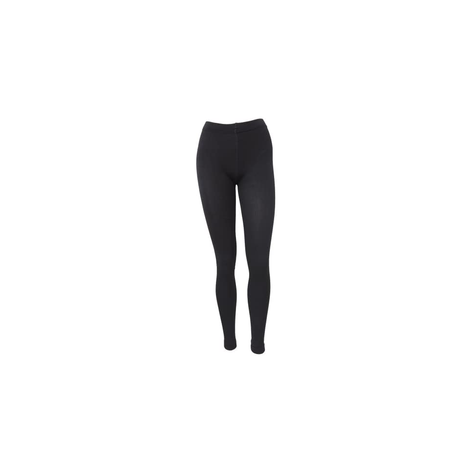Womens/Ladies Black Thermal Leggings (S/M) (Black)