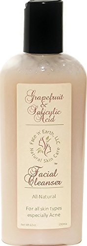 Organic Grapefruit, Vitamin C & Salicylic Acid Cleanser - Acne Deep Pore- Vegan - Alcohol, Paraben, SLS, Sulfate & Phthalate, Fragrance & Oil Free - NOW COMES WITH SAMPLES FOR YOU TO TRY best korea cosmetics purito pure vitamin c serum 60ml face cream anti wrinkle serum acne pimples treatment black head remover