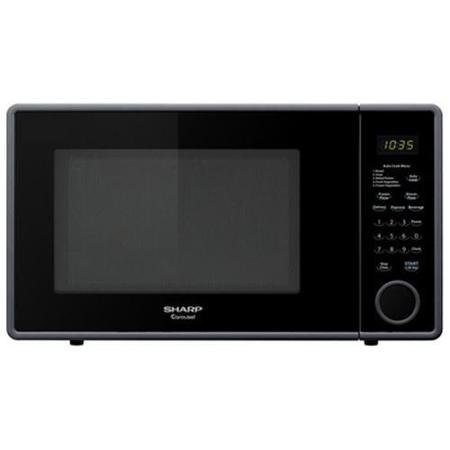 Sharp 1.1 Cu.ft., 1000w Touch Mid-size Countertop Microwave - Single - 1.10 Ft - 1 Kw - Smooth Black (r-309yk) (Sharp R309yk compare prices)