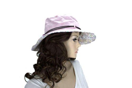 Noonies Boutique Sheeny Shine Pink Cotton Hat 14'' w/ 4'' Brim