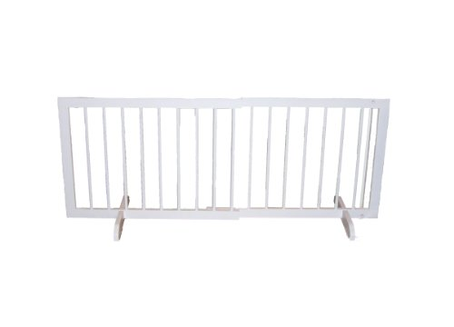 Cardinal Gates Step Over Gate, 21 x 28-Inches, White