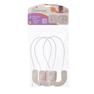 Dreambaby 6 Pack Flexi Loop Lock, White