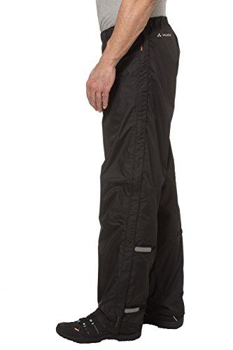 VAUDE Herren Hose Fluid Full-zip Pants II S/S,  Schwarz , Gr. 52/L ,6343 -