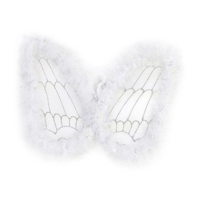 Great Pretenders White Marabou Angel Wings