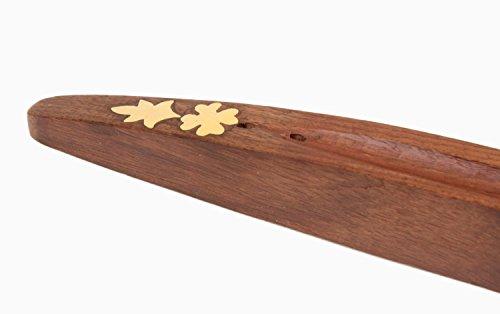 Navidad Regalos Hechos a mano quemador de incienso de madera con latón embutido Inicio Artículos de decoración