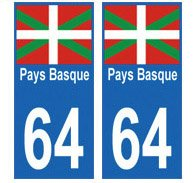 Autocollant-plaque-immatriculation-64-Pays-Basque