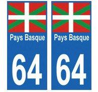 Autocollant-plaque-immatriculation-64-Pays-Basque
