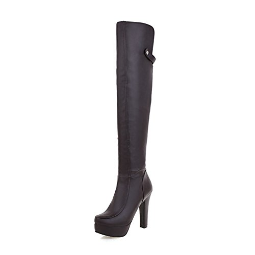 stivali donna moda moderna/ stivali/Grace Stivali sopra il ginocchio stivali-A Lunghezza piede=22.8CM(9Inch)