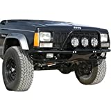 Or-Fab Front Bumper Non-Winch Style Wrinkle Black Powder Coat 1984-2001 Jeep Cherokee XJ # 83202