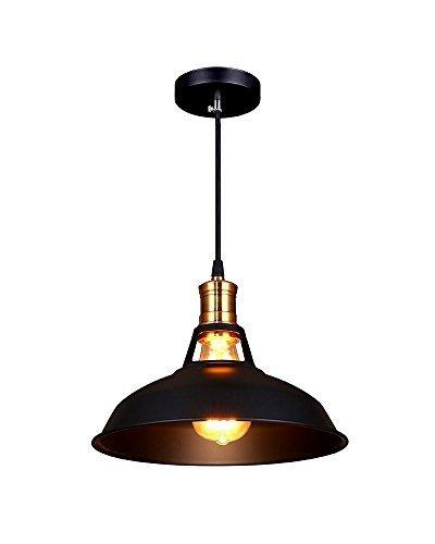 Splink-Vintage-Industriale-Lampadario-A-Soffitto-Metallo-Ombra-Attico-caff-Cucina-Bar-Da-parete-Ciondolo-Light-Paralumelampadina-non-incluso-Nero