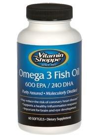 The vitamin shoppe omega 3 fish oil 600 epa for Vitamin shoppe omega 3 fish oil
