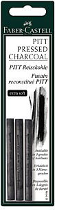 Faber-Castell Pitt Pressed Charcoal Extra Soft 3pc (Pressed Charcoal compare prices)