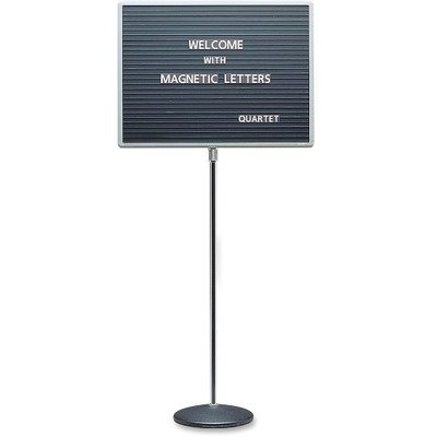Quartet 24 x 18 in. Single-Pedestal Letter Board (Pedestal Letter Board compare prices)