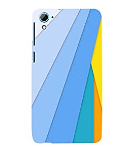 printtech Colored Lines Back Case Cover for HTC Desire 826::HTC Desire 826 Dual