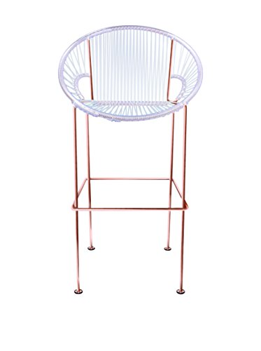 Innit Designs Bar Height Puerto Stool, Clear/Copper