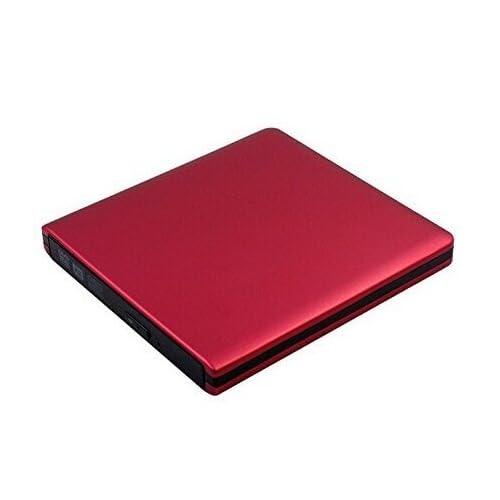 外付けUSB3.0ブルーレイコンボドライブ/BD-ROM DVD-RWドライブ レッド