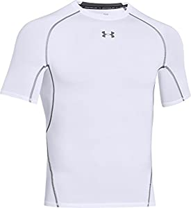 Under Armour Herren Fitness T-Shirt und Tank HG Short Sleeve Tee, White, M, 1257468