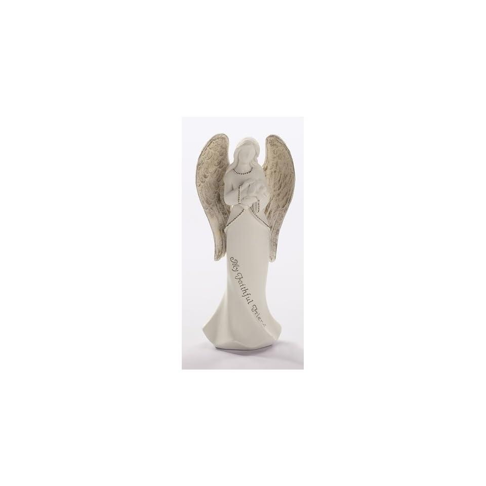 Roman Pet Memorial Angel Holding Dog My Faithful Friend Statue 64033