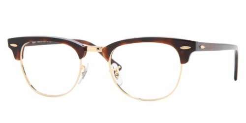 Ray Ban Rx5154 Clubmaster Eyeglasses-2372 Red Havana-49Mm