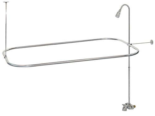 Bathcock Type Portable Aluminum Add On Shower Unit (Shower Head Ceiling Support Rod compare prices)
