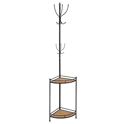 Linon Corner Metal and Wood Coat Rack (Corner Coat Rack compare prices)